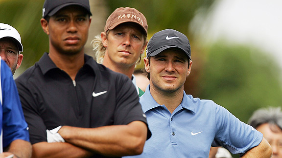 Tiger Woods and Trevor Immelman