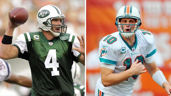 Brett Favre and Chad Pennington