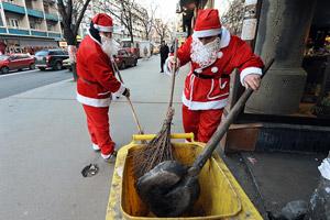 Skopje sanitary workers