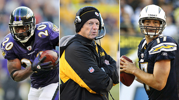 Ed Reed, Dick LeBeau and Philip Rivers