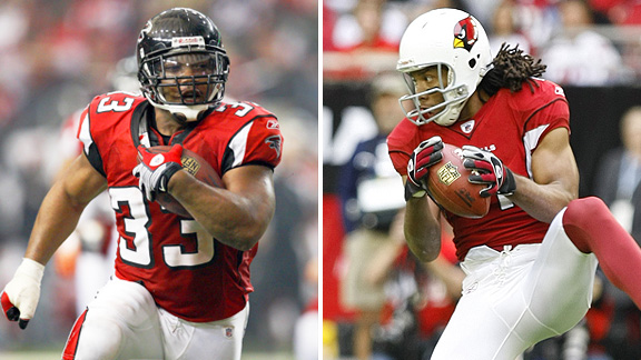 Michael Turner and Larry Fitzgerald