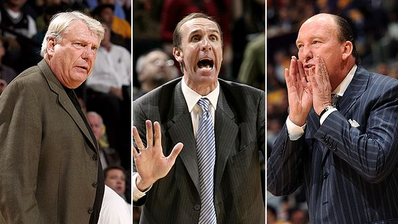 Don Nelson, Marc Iavaroni, and Mike Dunleavy