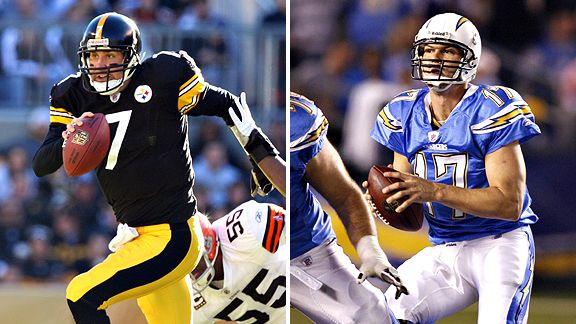 Ben Roethlisberger and Philip Rivers