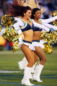 San Diego Chargers cheerleader
