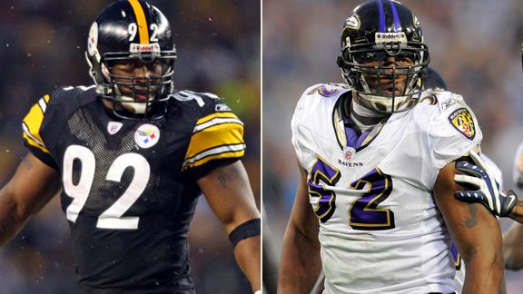 James Harrison, Ray Lewis