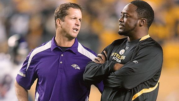 John Harbaugh and Mike Tomlin