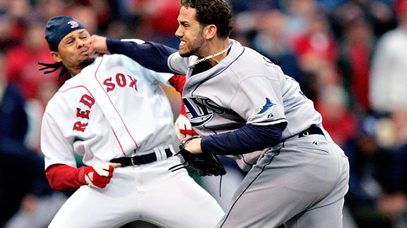 Red Sox and Rays brawl