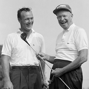 Arnold Palmer and Dwight Eisenhower