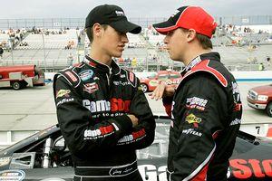 Joey Logano and Denny Hamlin