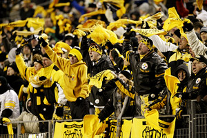 Fans with Terrible Towels