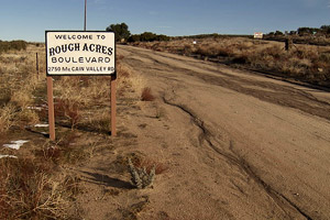 Rough Acres Sign