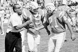 Sid Gillman, John Hadl, and Lance Alworth