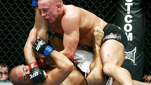Georges St. Pierre and BJ Penn