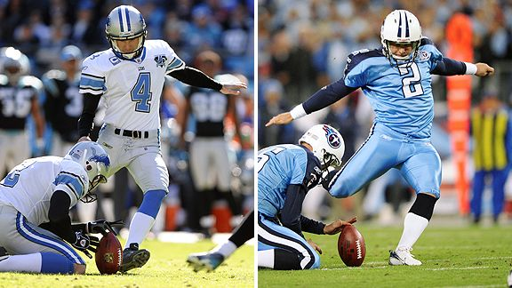 Jason Hanson and Rob Bironas