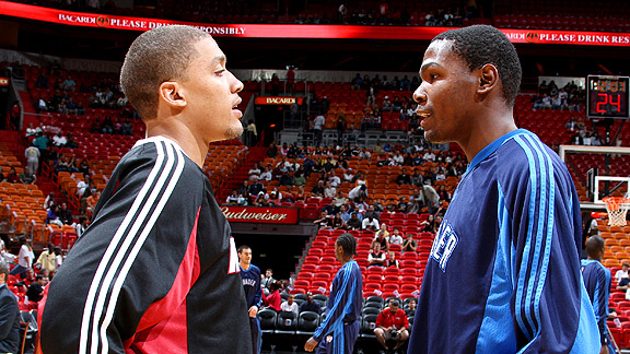 Michael Beasley and Kevin Durant