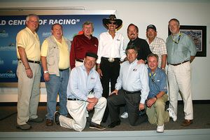 Richard Petty and reporters