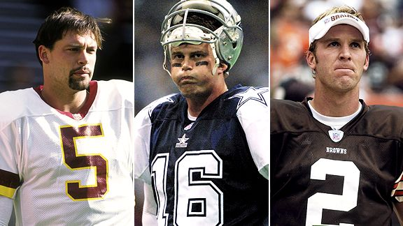 Heath Shuler, Ryan Leaf, and Tim Couch