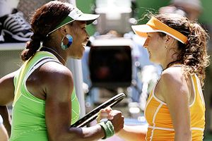 Serena Williams and Shahar Peer