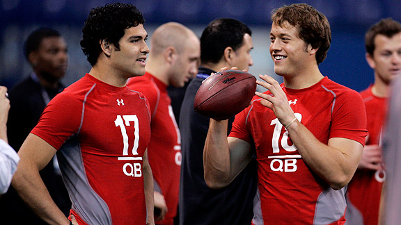 Mark Sanchez and Matt Stafford