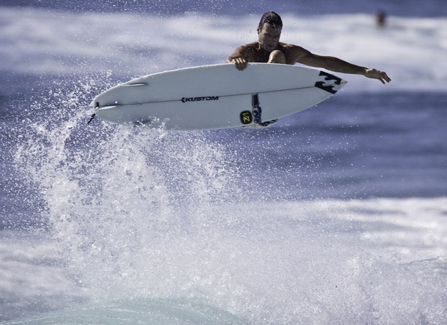 Parko demonstrates his versatility with some serious above-the-lip hang time.