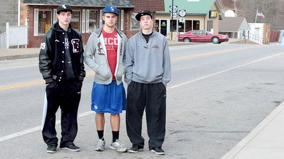 Evan Faulkner, Jonathan Ferguson and Ethan Faulkner