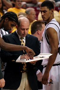 Herb Sendek and Jeff Pendergraph