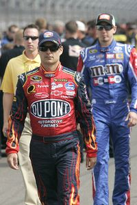 Jeff Gordon and Kyle Busch