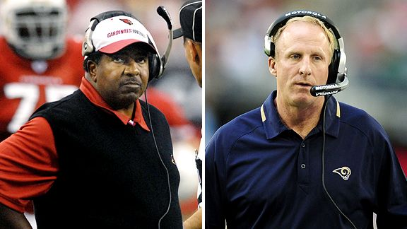 Dennis Green and Jim Haslett