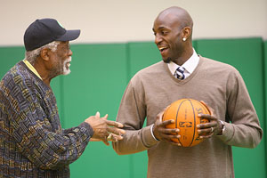 Kevin Garnett and Bill Russell