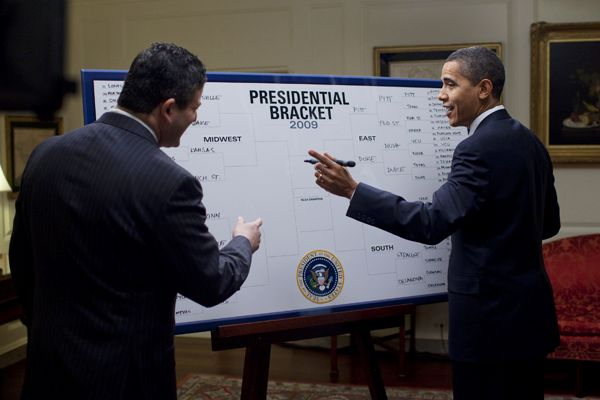 President Obama and his bracket