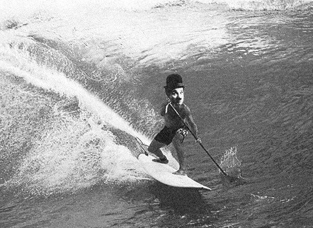 A closet stand-up paddle junkie throughout his entire career, nobody understood Charlie Chaplin's aversion to the media...until they realized he just didn't want the lineups getting packed with a bunch of kooks.