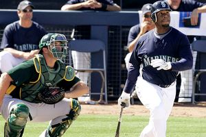 Ken Griffey Jr. & Landon Powell