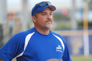 Softball coach David Deiros is happy to see Jenks excel in two sports at FGCU.
