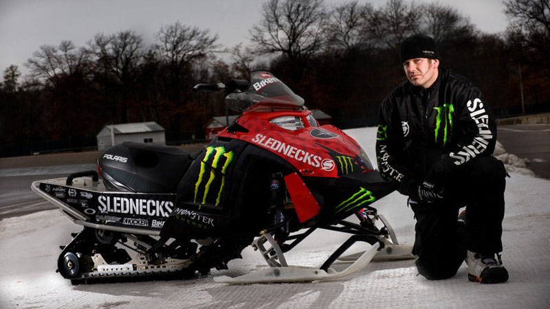 This was the longest snowmobile jump ever! The initial jump, which was held