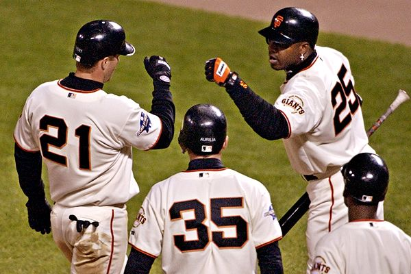 Barry Bonds and Jeff Kent