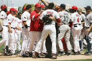 Angels, Red Sox Brawl