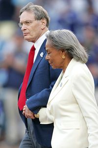 Bud Selig and Rachel Robinson