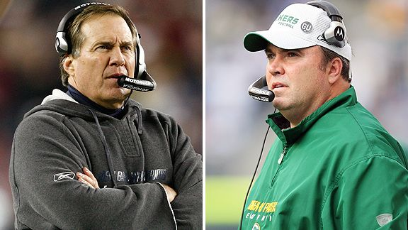 Bill Belichick and Mike McCarthy