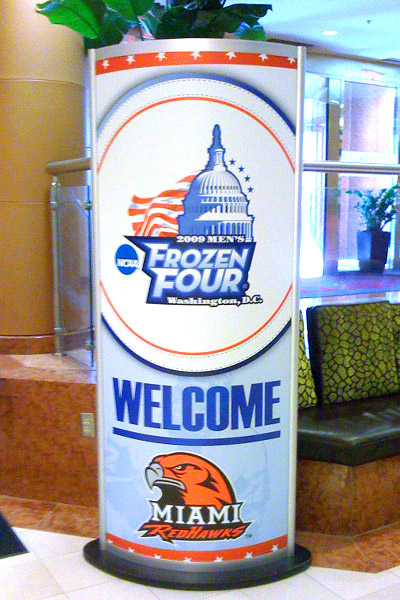Frozen Four sign