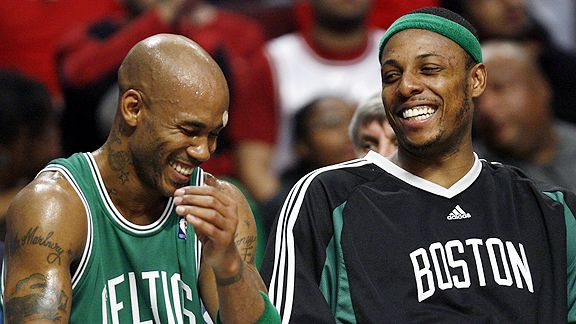 Paul Pierce and Stephon Marbury