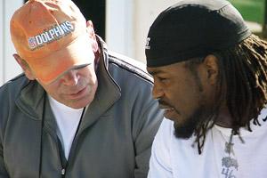 Frantz Joseph and Miami Dolphin NFL scout