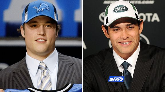 Matt Stafford and Mark Sanchez