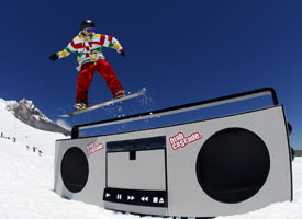 You can find every jib, rail and box imaginable at High Cascade... even a giant boombox.