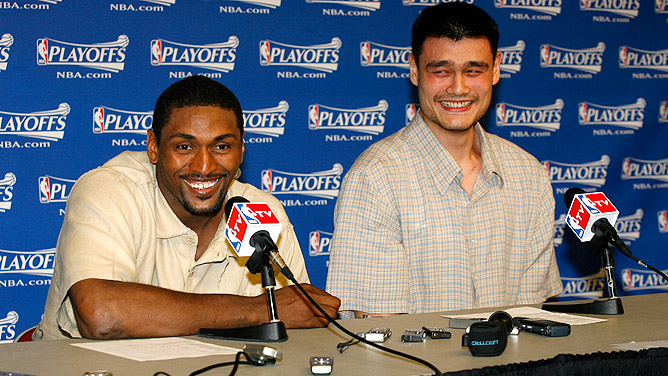 Ron Artest and Yao Ming