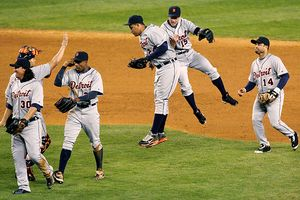 Tigers Celebrating