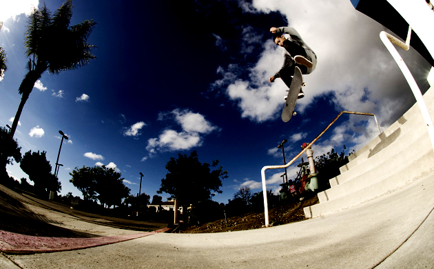 Chaz Ortiz can frontside flip in the streets, too&#151far from the mega contest ramps.