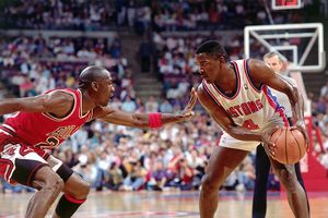 Michael Jordan and Joe Dumars