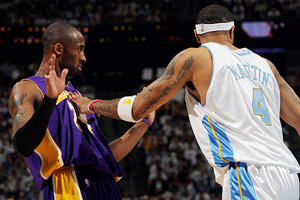 Kenyon Martin and Kobe Bryant
