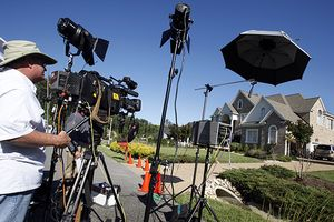Media At Michael Vicks House