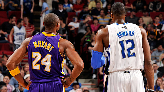 Dwight Howard and Kobe Bryant